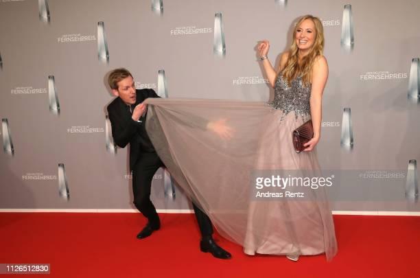 Jan Hahn and Angela FingerErben attend the German Television Award at Rheinterrasse on January 31 2019 in Duesseldorf Germany