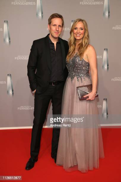 Jan Hahn and Angela FingerErben attend the German Television Award at Rheinterrasse on January 31 2019 in Duesseldorf Germany