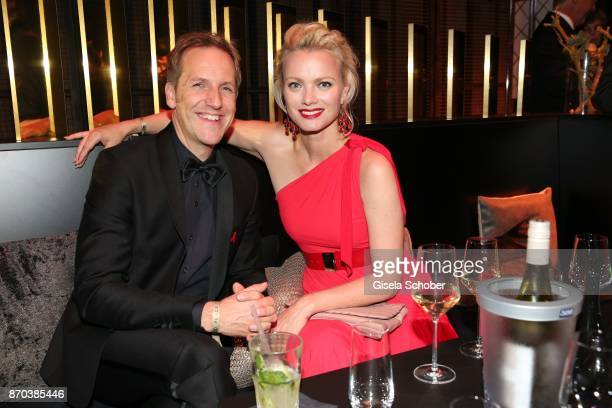 Jan Hahn and Franziska Knuppe during the aftershow party of the 24th Opera Gala benefit to Deutsche AidsStiftung at Deutsche Oper Berlin on November...