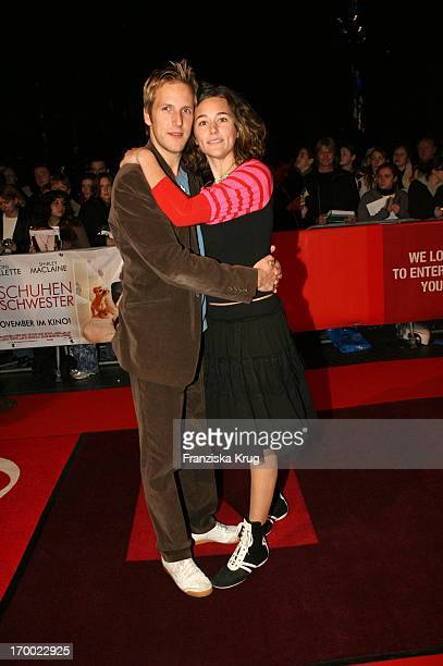 Jan Hahn and girlfriend Alissa Jung In Germany at Premiere In my sister's shoes in the In Des Cinestar Sony Center Berlin