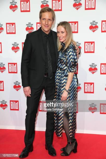 Jan Hahn and his girlfriend Constance Wendrich during the Ein Herz Fuer Kinder Gala at Studio Berlin Adlershof on December 8, 2018 in Berlin, Germany.