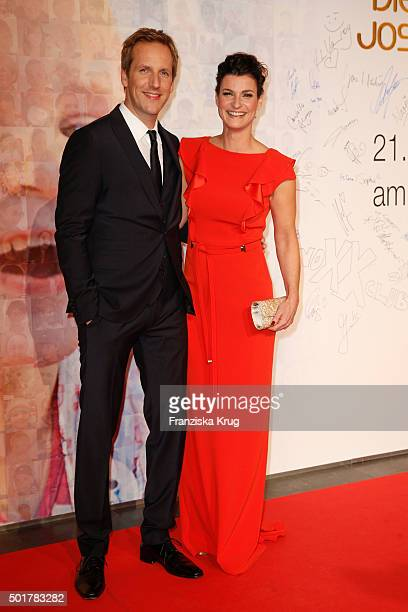 Jan Hahn and Marlene Lufen attend the 21th Annual Jose Carreras Gala at Hotel Estrel on December 17 2015 in Berlin Germany