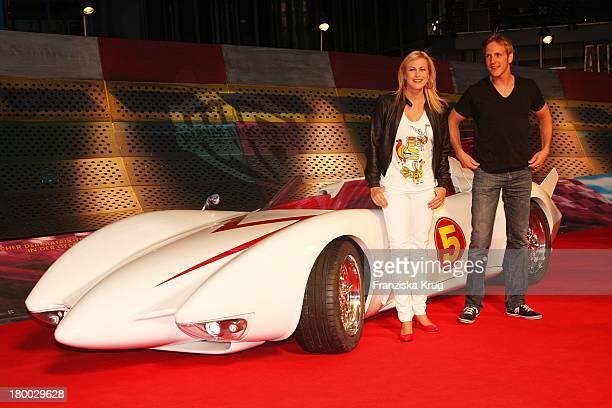 """Jan Hahn Und Nadine Krüger Bei Der """"Speed Racer"""" Europapremiere Im Cine Star Am Potsdamer Platz In Berlin ."""