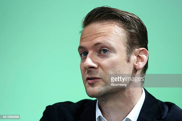 Jan Hammer, partner at Index Ventures, speaks during a panel session at the CoinSummit Virtual Currency conference in London, U.K., on Thursday, July...