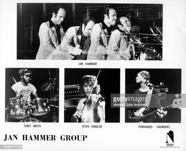 """Jan Hammer, Tony Smith, Steve Kindler, Fernando Saunders of the """"Jan Hammer Group"""" in 1976."""