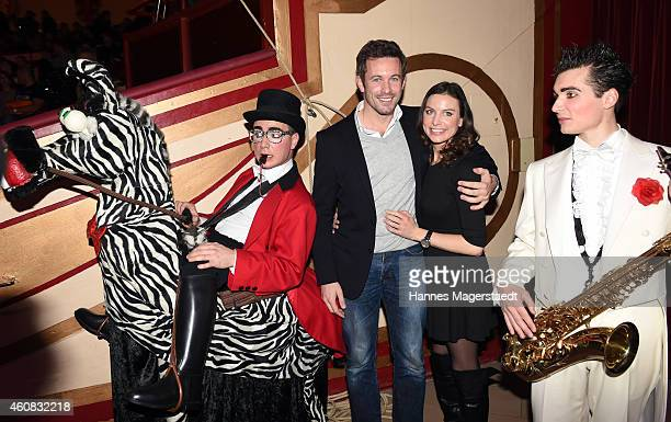 Jan Hartmann and his girlfriend Julia attend the 'Circus Krone Christmas Show 2014' at Circus Krone on December 25 2014 in Munich Germany