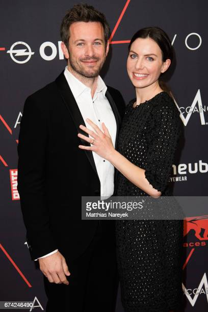 Jan Hartmann and his wife Julia attend the New Faces Award Film at Haus Ungarn on April 27 2017 in Berlin Germany