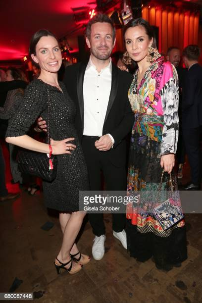 Jan Hartmann and his wife Julia Hartmann and Nadine Warmuth during the New Faces Award Film at Haus Ungarn on April 27 2017 in Berlin Germany