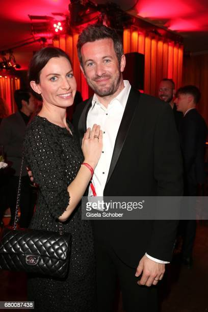 Jan Hartmann and his wife Julia Hartmann during the New Faces Award Film at Haus Ungarn on April 27 2017 in Berlin Germany