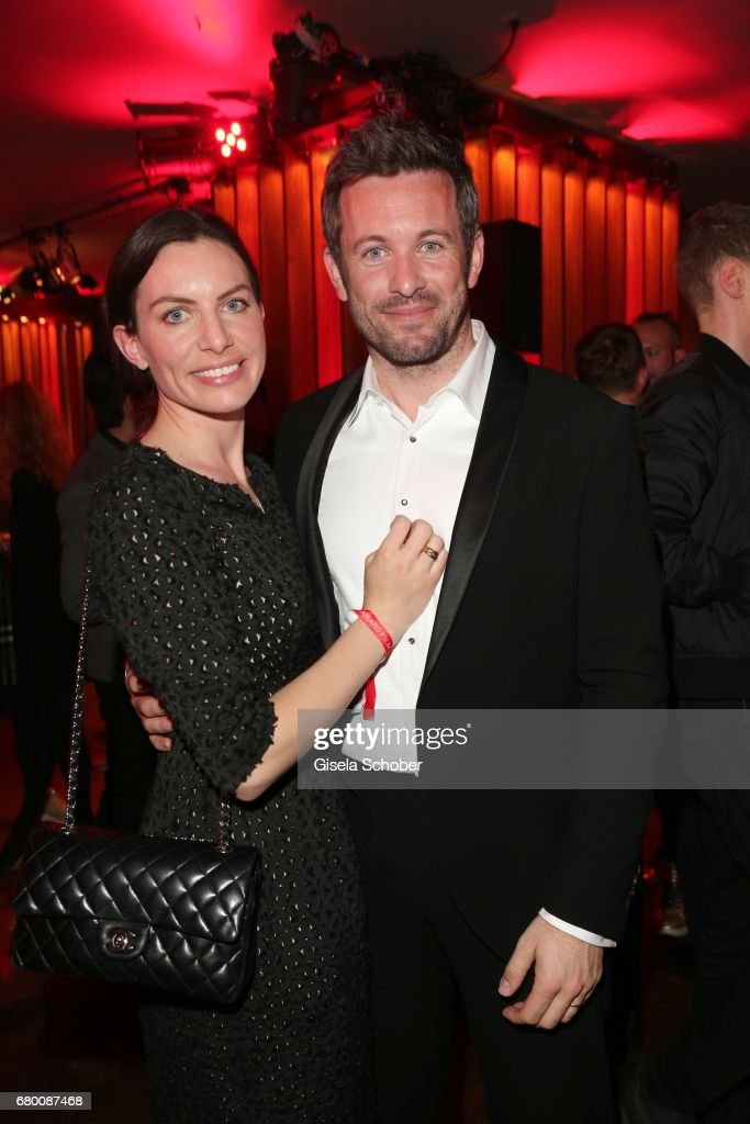 Jan Hartmann and his wife Julia Hartmann during the New Faces Award Film at Haus Ungarn on April 27, 2017 in Berlin, Germany.