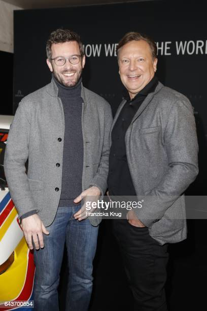 Jan Hartmann and Oliver Kastalio CEO Rodenstock attend the Rodenstock Exhibition Opening Event at Museum of Urban and Contemporary Art in Munich on...