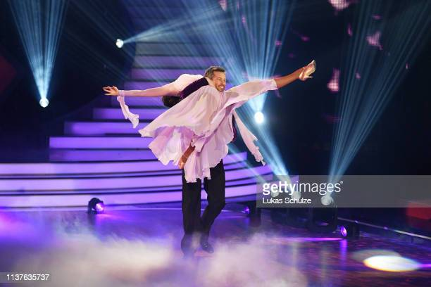 Jan Hartmann and Renata Lusin perform on stage during the 1st show of the 12th season of the television competition Let's Dance on March 22 2019 in...