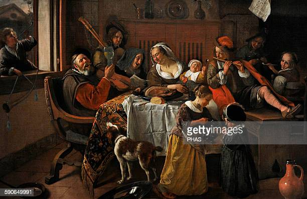 Jan Havicksz Steen Dutch painter The Merry Familiy 1668 Rijksmuseum Amsterdam Holland