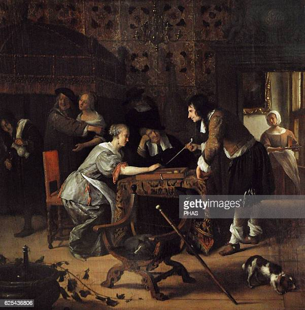 Jan Havickszoon Steen Dutch painter TricTrac Players 1667 The State Hermitage Museum Saint Petersburg Russia