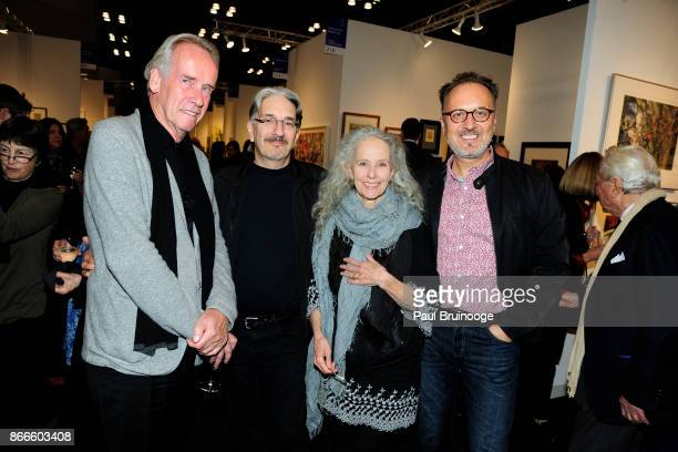 Jan Hendrix Craig Zammiello Kiki Smith and Endi Poskovic attend the IFPDA Fine Art Print Fair Opening Preview at The Jacob K Javits Convention Center...