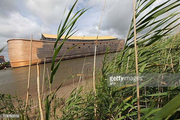 Jan Hennop The 150 metrelong Noah's ark created by Dutch Johan Huibers is pictured at an old abandoned quay on the Merwede River in Dordrecht on June...