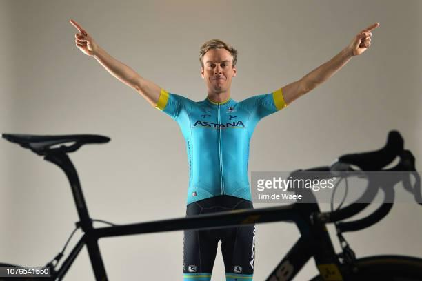 Jan Hirt of Czech Republic and Astana Pro Team / Argon 18 Bike / Silhouette / Detail view / on December 17 2018 in Altea Spain