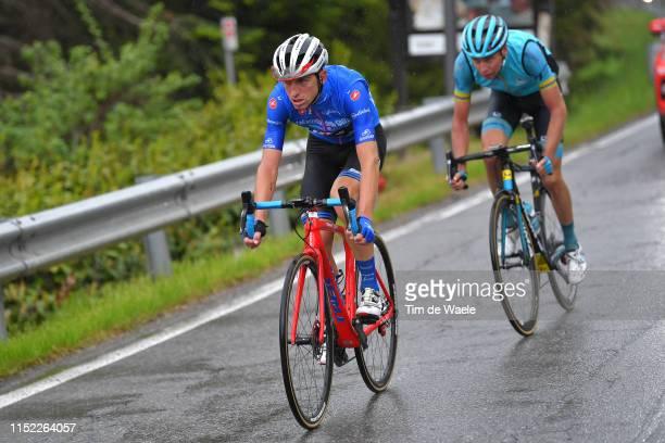Jan Hirt of Czech Republic and Astana Pro Team / Giulio Ciccone of Italy and Team Trek - Segafredo Blue Mountain Jersey / during the 102nd Giro...