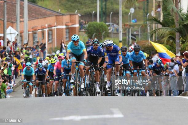 Jan Hirt of Czech Republic and Astana Pro Team / Jonathan Castroviejo of Spain and Team Sky / Iljo Keisse of Belgium and DeceuninckQuickstep Team /...