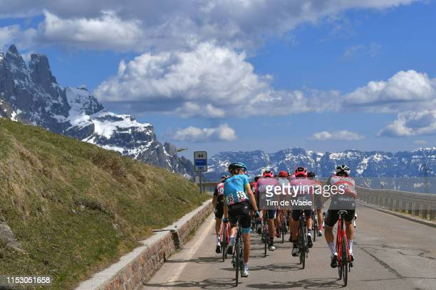 Jan Hirt of Czech Republic and Astana Pro Team / Nicola Conci of Italy and Team Trek - Segafredo / San Martino di Castrozza / Dolomites Mountains /...