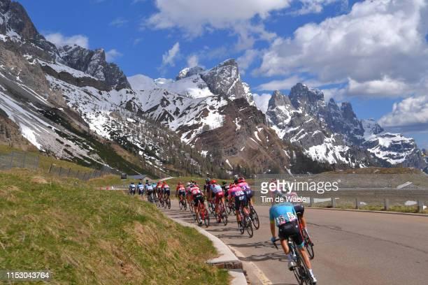Jan Hirt of Czech Republic and Astana Pro Team / San Martino di Castrozza / Dolomites Mountains / Landscape / Mountains / Snow / Fans / Public /...