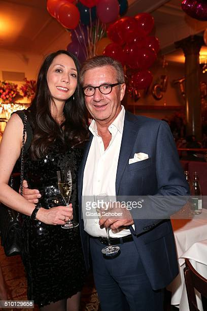 Jan Hofer and his girlfriend Phong Lan Truong during the Bild 'Place to B' Party at Borchardt during the 66th Berlinale International Film Festival...