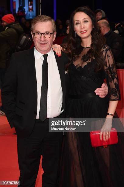 Jan Hofer and Phong Lan Balz attend the closing ceremony during the 68th Berlinale International Film Festival Berlin at Berlinale Palast on February...