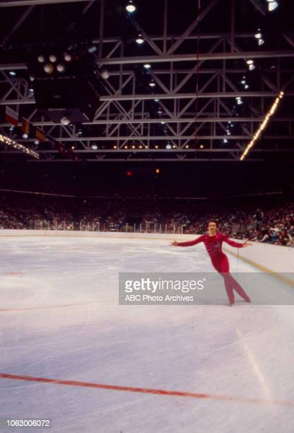 Jan Hoffmann competing in the Men's figure skating event at the 1980 Winter Olympics / XIII Olympic Winter Games Olympic Center