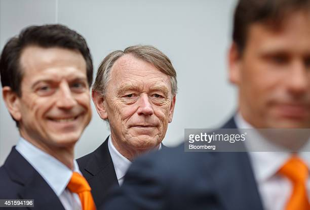 Jan Holsboer a member of the supervisory board at ING Groep NV center stands outside the Euronext Exchange following the launch of NN Group NV's IPO...