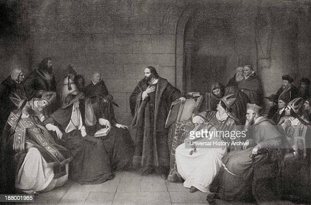 Jan Hus C1369 To 1415 Czech Priest Philosopher And Reformer Before The Council Of Constance In 1414 From Das Evangelium In Der Berfolgung