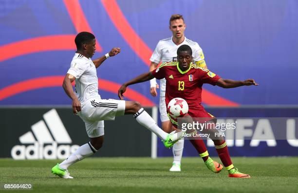 Jan Hutado of Venezuela beats Frederic Ananou of Germany during the FIFA U20 World Cup Korea Republic 2017 group B match between Venezuela and...