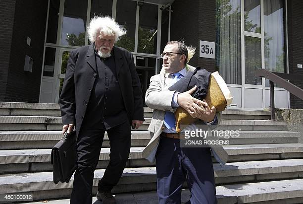 Jan Jacob , father of Jonathan Jacob, and his lawyer Peter Callebaut leave the Antwerp's appeal court, after a hearing on the case of the death of...