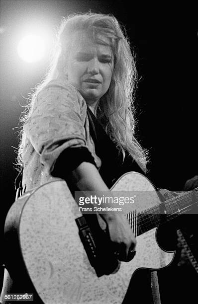 Jan James, vocal and guitar, performs on May 15th 1996 at the Melkweg in Amsterdam, Netherlands.