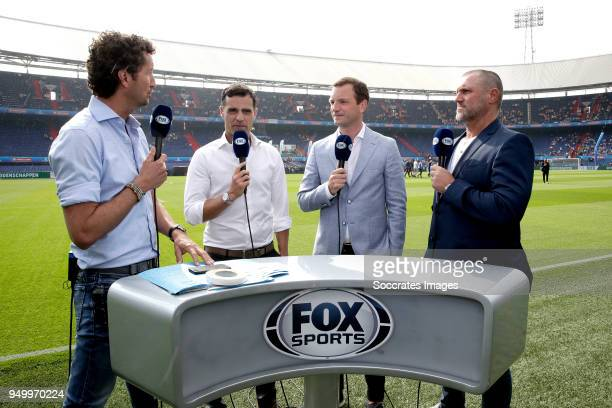 Jan Joost van Gangelen Kenneth Perez Arnold Bruggink John de Wolf during the Dutch KNVB Beker match between AZ Alkmaar v Feyenoord at the Stadium...