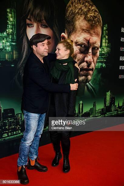 Jan Josef Liefers and Anna Loos attend the 'Tatort Der Grosse Schmerz' premiere in Berlin at Kino Babylon on December 16 2015 in Berlin Germany