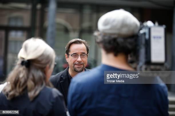 Jan Josef Liefers during the 'Tatort Gott ist auch nur ein Mensch' On Set Photo Call on July 5 2017 in Muenster Germany