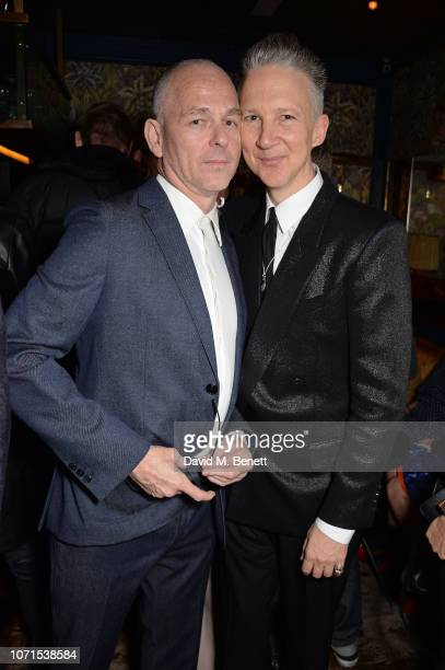 Jan Kennedy and Jefferson Hack attend a party hosted by Katie Grand and Jefferson Hack in honour of Miuccia Prada winner of the Outstanding...