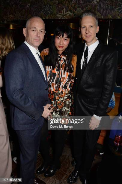 Jan Kennedy Mimi Xu and Jefferson Hack attend a party hosted by Katie Grand and Jefferson Hack in honour of Miuccia Prada winner of the Outstanding...