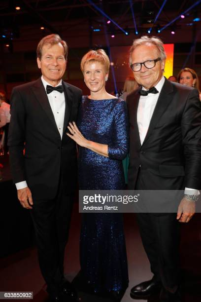 Jan Klatten with his wife Susanne Klatten and Werner E Klatten attend the German Sports Gala 'Ball des Sports 2017' on February 4 2017 in Wiesbaden...