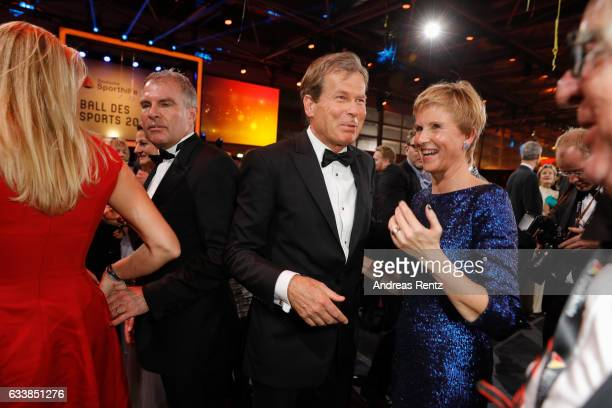 Jan Klatten with his wife Susanne Klatten attend the German Sports Gala 'Ball des Sports 2017' on February 4 2017 in Wiesbaden Germany