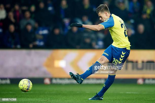 Jan Kliment of Brondby IF in action during the Danish Alka Superliga match between Brondby IF and AGF Arhus at Brondby Stadion on December 10 2017 in...
