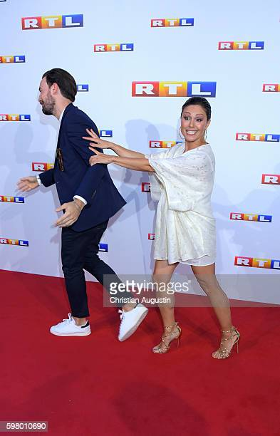 Jan Koeppen and Nazan Eckes attend photocall of RTL Program 2016/17 presentation at the REE Location on August 30, 2016 in Hamburg, Germany.