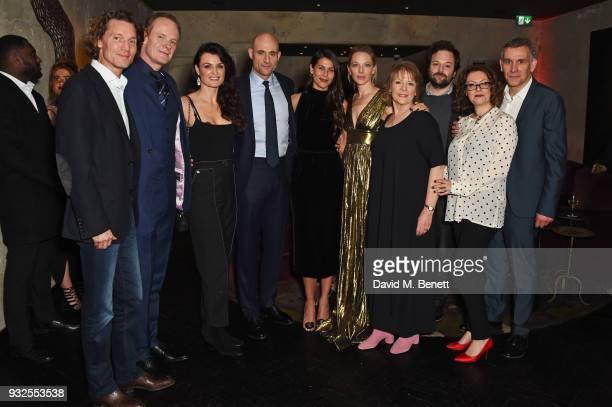Jan Koeppen President and CEO of Europe Africa at Fox Networks Group cast members Alistair Petrie Lyne Renee Mark Strong Karima McAdams Anastasia...