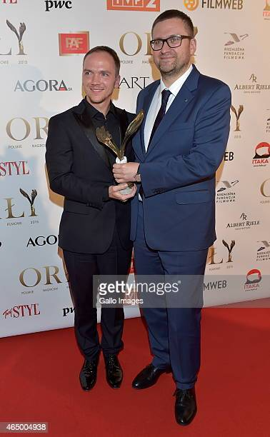 Jan Komasa and Jan Oldakowski attend the 2015 Orly Awards on March 2 2015 at Polski Theatre in Warsaw Poland The annual awards which are the...
