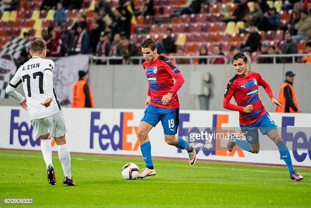 Jan Kovarik of FC Viktoria Plzen during the UEFA Europa League 20162017 Group E game between FC Astra Giurgiu and FC Viktoria Plzen at National Arena...