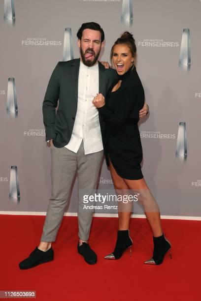 Jan Köppen and Laura Wontorra attend the German Television Award at Rheinterrasse on January 31 2019 in Duesseldorf Germany