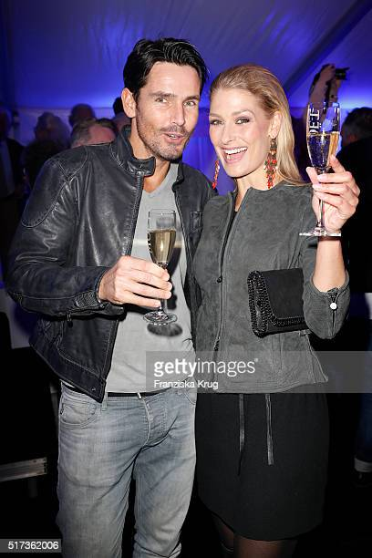 Jan Kralitschka and AnnKristin Bruecker attend the Different Fashion Big Shot Party 2016 on March 24 2016 on Sylt Germany