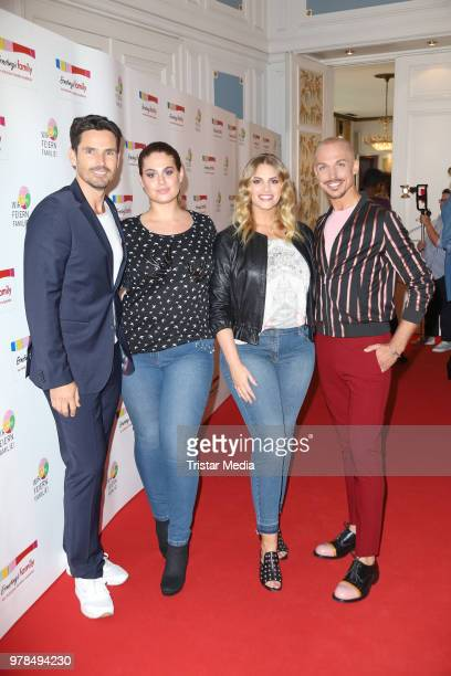 Jan Kralitschka Hanna Wilperath Angelina Kirsch and Peyman Amin during the Ernsting's Family Fashion event on June 18 2018 in Hamburg Germany