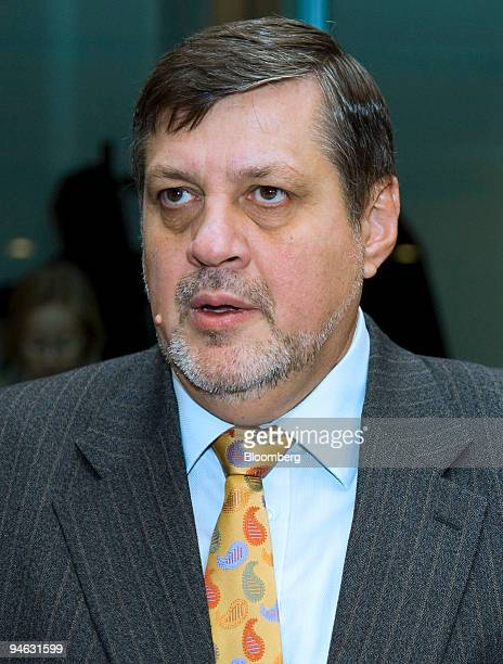 Jan Kubis Slovakia's foreign minister pauses at the start of a meeting in Brussels Belgium on Monday Dec 10 2007 European Union foreign ministers...