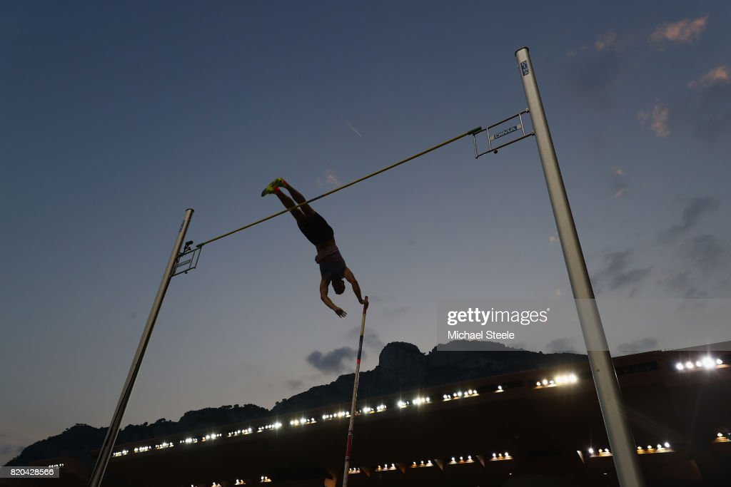 Jan Kudlicka of Czech Republic in action during the men's pole vault during the IAAF Diamond League Meeting Herculis on July 21, 2017 in Monaco, Monaco.